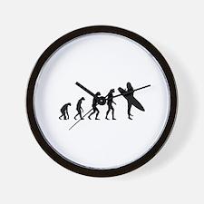 Evolution surfing Wall Clock