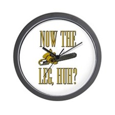 Now The Let, Huh? Scarface Chainsaw Wall Clock