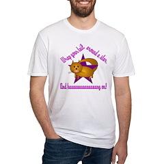 Kitty Katty Wraps Tail Around Fitted T-Shirt