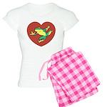 ASL Frog in Heart Women's Light Pajamas