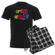 Got ASL? Rainbow SQ Pajamas