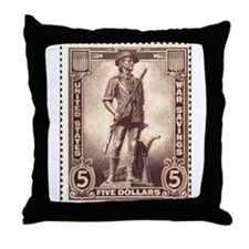 Minuteman Throw Pillow