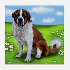 SAINT BERNARD DOG PARK Tile Coaster
