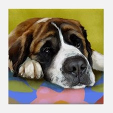 SAINT BERNARD DOG Tile Coaster