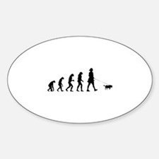 Evolution walking the dog Decal