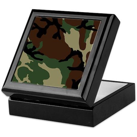 Camouflage Pattern Keepsake Box
