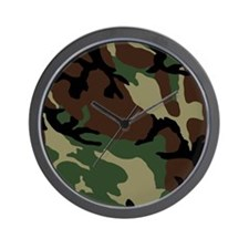 Camouflage Pattern Wall Clock
