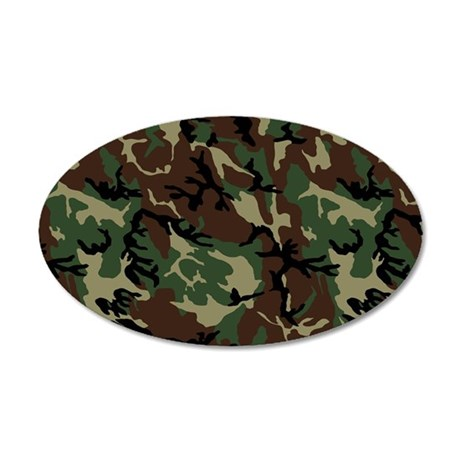 Camouflage Pattern 22x14 Oval Wall Peel
