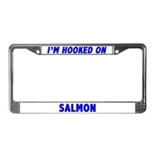 I'm Hooked On Salmon License Plate Frame