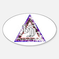 Brazilian Jiu Jitsu Triangle Sticker (Oval)