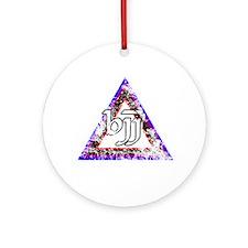Brazilian Jiu Jitsu Triangle Ornament (Round)