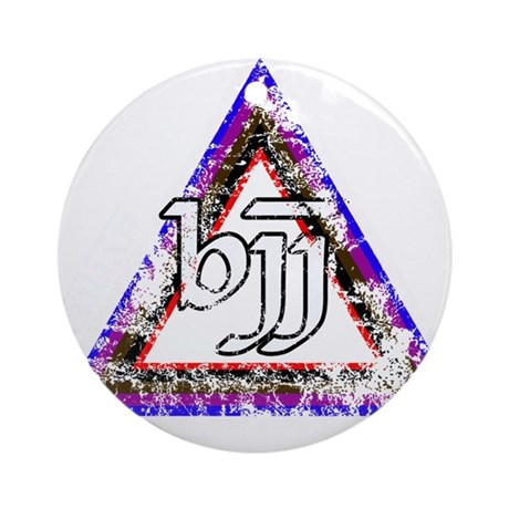 Brazilian Jiu Jitsu Triangle Ornament (Round)