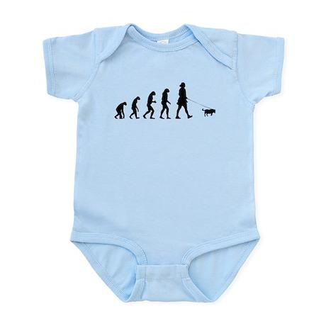 Evolution walking the dog Infant Bodysuit
