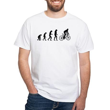 Evolution cycling White T-Shirt