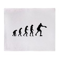 Evolution frisbee Throw Blanket