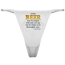 Czech Beer Proverb Classic Thong