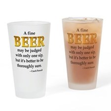 Czech Beer Proverb Drinking Glass