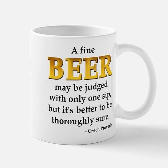 Czech Beer Proverb Mug