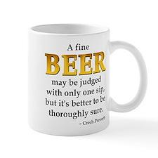 Czech Beer Proverb Small Mug
