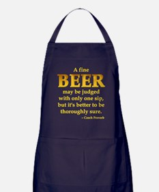 Czech Beer Proverb Apron (dark)