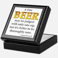 Czech Beer Proverb Keepsake Box