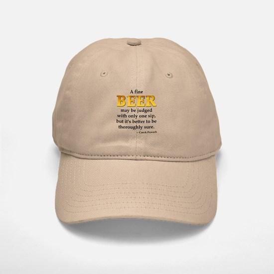 Czech Beer Proverb Baseball Baseball Cap
