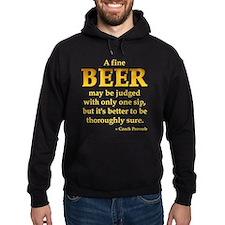 Czech Beer Proverb Hoodie