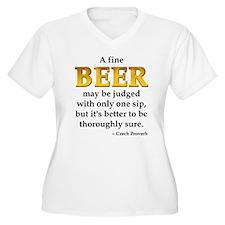Czech Beer Proverb T-Shirt
