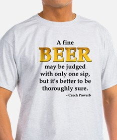 Czech Beer Proverb T-Shirt