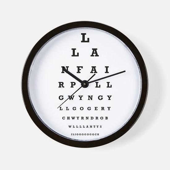 Welsh Eye Test Wall Clock