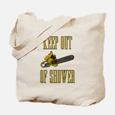 Keep Out of Shower Scarface Tote Bag