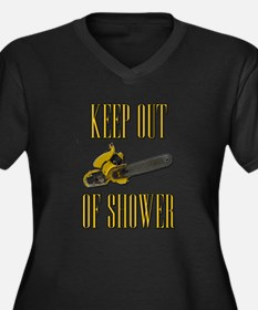 Keep Out of Shower Scarface Women's Plus Size V-Ne