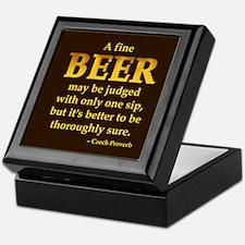 Czech Beer Proverb Dark Keepsake Box