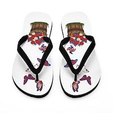 4 Butterflies Flip Flops