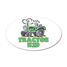 Green Tractor Kid 22x14 Oval Wall Peel