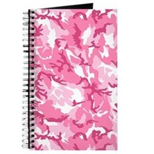 Pink Camouflage Pattern Journal