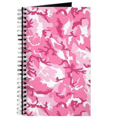 Pink Camouflage Pattern Journal