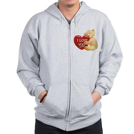 Teddy Bear Love Zip Hoodie