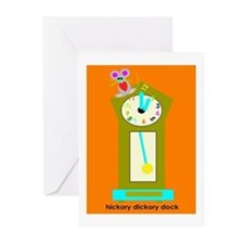 Hickory Dickory Dock Invitations (Pk of 10)