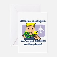 Attention Passengers PG Greeting Cards (Package of