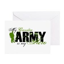 Grandpa Hero3 - ARMY Greeting Cards (Pk of 10)