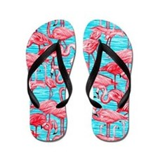 Flamingo Flip Flops