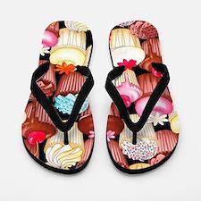Yumming Cupcake Flip Flops
