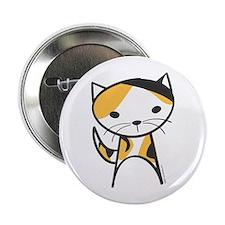 "Calico Cat 2.25"" Button"