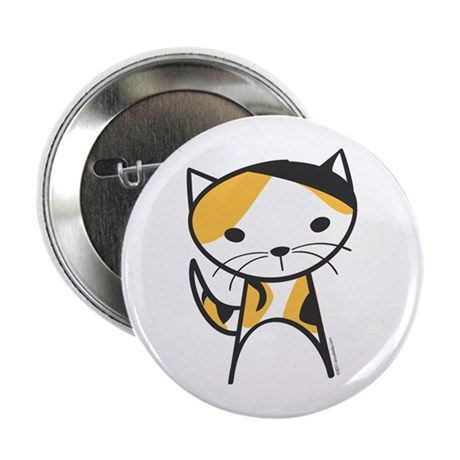 "Calico Cat 2.25"" Button"