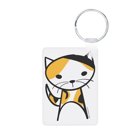 Calico Cat Aluminum Photo Keychain