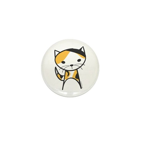 Calico Cat Mini Button (10 pack)