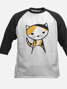 Calico Cat Kids Baseball Jersey