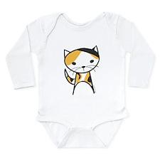 Calico Cat Long Sleeve Infant Bodysuit