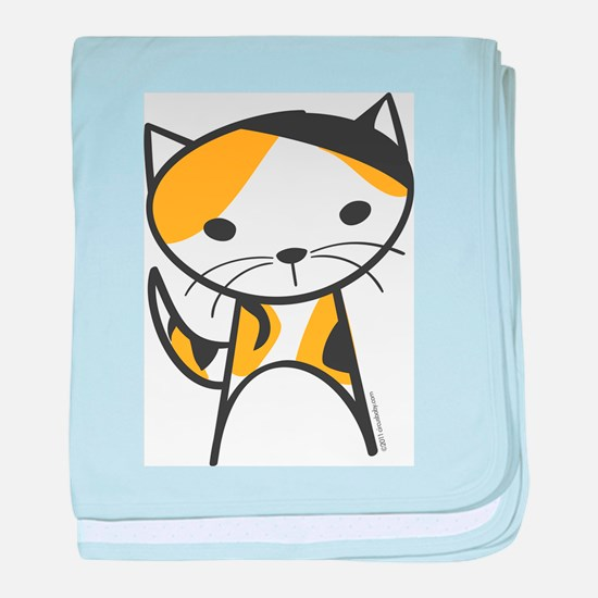 Calico Cat baby blanket
